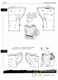 اكمام تفصيل مجاني Manches patron gratuit à partir de patron de base Free pattern sleeve from draft pattern: