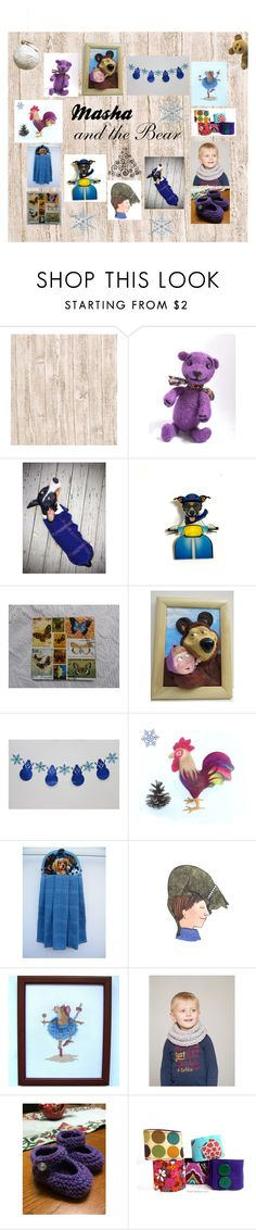 """""""Masha and the Bear: Handmade Kids Presents"""" by paulinemcewen ❤ liked on Polyvore"""