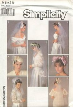 Amazon.com: Simplicity Pattern #8509 - Bridal Veils and Headpieces: Arts, Crafts & Sewing