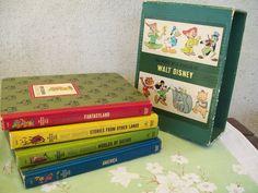 walt disney 1965 golden storybooks | 1965 Walt Disney Wonderful Worlds 4 Book by CatzVintageTreasures