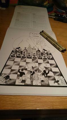 Next step #politicalart #politics #police #1984 #power #control #chess #shading #design #art #illustration #drawing #freehand