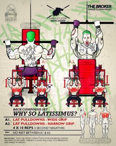 back exercise: pulldown superset with joker