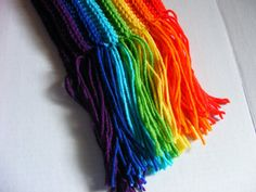 Wide & Long Rainbow Crochet Scarf by MarianRuth on Etsy, $23.00