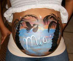 Pregnant Belly Painting | Pregnant belly painting, Belly ...
