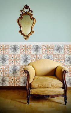 Louise Body / Paper Tiles Orange Rose