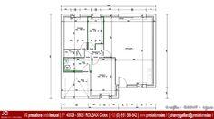 15-1037 - JG Dessin Architectural - Plan du RdC pour Permis de construire pour une petite maison de 75 m² à THIENNES (59189) entre Hazebrouck et Béthune dans le Nord – Pas De Calais (59 - 62) - www.prestationsdao.fr