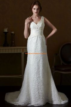 Eden Silver Label A-linie Lange Elegante Brautkleider aus Softnetz mit Schleppe