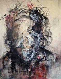 Dark abstract portraits by Eric Lacombe - Bleaq Arte Horror, Horror Art, Abstract Portrait, Portrait Art, Portraits, Abstract Art, Abstract Faces, Eric Lacombe, Frida Art
