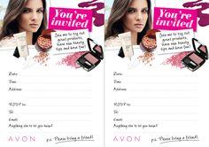 AVON Make Up Get Together invite!
