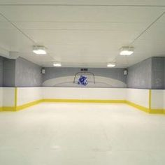 Finished basement looking like a hockey ring! um yes please!! Basement Wall Colors, Game Room Basement, Basement Walls, Basement Bedrooms, Basement Ideas, Hockey Man Cave, Ice Hockey, Soccer Room, T Home