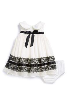 Iris & Ivy Sleeveless Dress & Bloomers (Baby Girls) available at… Little Dresses, Little Girl Dresses, Nice Dresses, Girls Dresses, Baby Girl Fashion, Kids Fashion, Cute White Dress, Modelos Fashion, Baby Frocks Designs