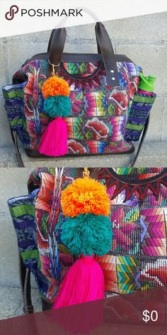 Pom Pom Tassel from @lanewyorkilla Love my pom pom tassel charm used to dress my Nena & Co bag.  It's so fun, colorful and just adds that little extra personality to my bag. Want one of your own? Visit @lanewyorkilla for more beautiful artisan handmade treasures! Handmade Accessories