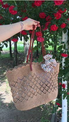로즈's 바늘노리 - 니팅노리썸머 숄더백살짝~ 살짝~ 비치는 무늬... 심플함 속 포인트가 되어주는... 와인...