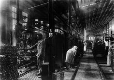 Tostadoras. Fábrica nova de Bueu | Preparing the sardines. New factory in Bueu, ca. 1926