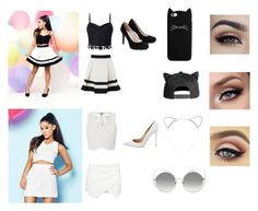 """""""Ariana Grande inspired outfit ideas"""" by mrgrdsantos ❤ liked on Polyvore featuring Lipsy, Gianvito Rossi and Marc Jacobs"""