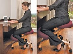 Ergonomic Kneeling Chair- I tried one back in the 80's or early 90's. Just made my knees hurt!