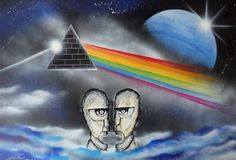 Pink Floyd theme. Spray art by Ivan Perončík.
