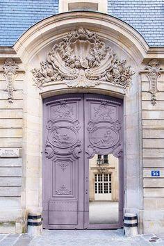 Paris Photography - Mauve Door Print