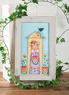 Home for Summer by Deb Antonick. Exclusive Free Downloadable pattern and wood surface available at www.ArtistsClub.com
