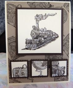 From L. Karr in Yuma, Arizona, USA. Traveler Train by lkarr309 - Cards and Paper Crafts at Splitcoaststampers