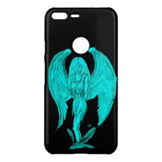 Angel  Black and Green design Uncommon Google Pixel XL Case - black gifts unique cool diy customize personalize