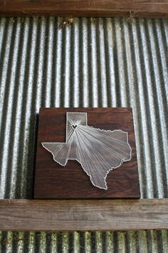 Love this idea!  Reclaimed Wood, Nail and String Art Tribute to your hometown.