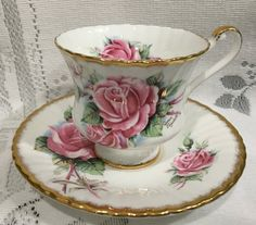 Vintage Bone China Tea Cup & Saucer English by CupsAndRoses