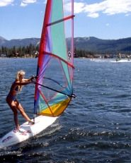 Windsurfing in the mountains? Only in California! Big Bear Lake is a great excursion from LA offering skiing and snowboarding in the winter and plenty of mountain activities in the summer.  #Travel #CA