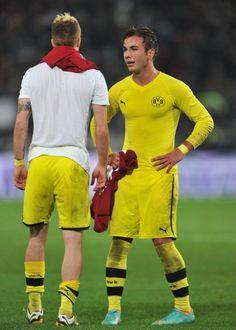 Marco Reus (l.) und Mario Götze , after Hannover match