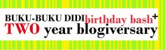 Buku-Buku Didi: TWO YEAR Blogiversary! (INT Giveaway)