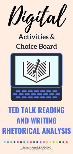 Differentiated writing, reading, speaking and listening activities are an important skill-building part of any English classroom. This no prep TED talk activity sequence for high school students encourages student engagement, critical thinking, and rhetorical analysis of multimedia nonfiction texts. #secondaryela #digitallearning #remotelearning #secondaryenglish