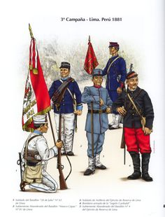 War of the Pacific, Troop types from Campaign Lima 1881