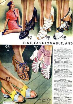 Women's Fashion: 1930s Shoes History