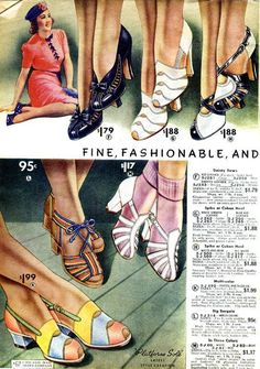 Women's Fashion: 1930s Shoes History