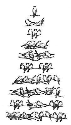 Cute for a  burlap pilllow Vintage Christmas Clip Art - Bird Tree - The Graphics Fairy