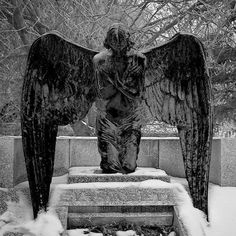 Angel in snow, photographer unknown.