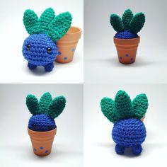 oddish amigurumi NO pattern but reeaally cute Cute Crochet, Crochet Crafts, Crochet Yarn, Yarn Crafts, Crochet Toys, Pokemon Crochet Pattern, Amigurumi Patterns, Crochet Patterns, Yarn Projects