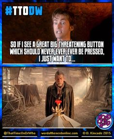 "#ThatTimeOnDrWho - Week 59 ""The Christmas Invasion"" (Tennant/10) and ""The Day of the Doctor"" (Hurt/War)."