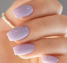 Amazing Nail Polish Color Trends You'll Want To Have All Year Fantastischer hellvioletter Nagellack Light Purple Nails, Purple Nail Polish, Nail Polish Colors, Acrylic Nails Coffin Short, Best Acrylic Nails, Colorful Nail Designs, Acrylic Nail Designs, Minimalist Nails, Nagel Gel