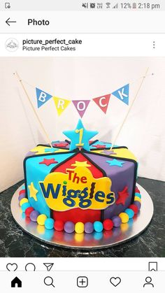 Wiggles Party, Wiggles Birthday, The Wiggles, Baby Boy 1st Birthday, 1st Boy Birthday, Birthday Ideas, Birthday Parties, Birthday Cookies, Birthday Cake