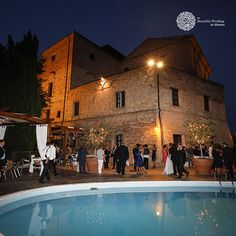 You can find the swimming-pool facing a natural scenery, which will make you breathless and the terrace, when decorated with charm, becomes the place where to celebrate the civil ceremony and exchange love promises. Civil Ceremony, Wedding Ceremony, Love Promise, Natural Scenery, Under The Stars, Italy Wedding, Terrace, Swimming Pools, Castle