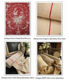 Swedish Decorating & Furniture - Natural Fabrics By Antique Vintage European Textiles