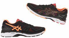 Asics Women's Gel Kayano 23 BlackSilverFlash Coral T696N 9093 Mens Running Sneakers Trainers