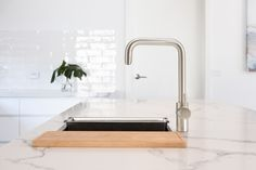 A kettle and mixer tap in one! Now near-boiling water for hot drinks and cooking is instantly available from a sleek, Italian designed multi-functional tap. The convenience of near-boiling water for effortless coffees and teas, plus the fresh clean taste of filtered water. The InSinkErator® Multitap System will change the way you enjoy your kitchen and entertain guests. Available in 3 colour choices.