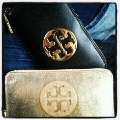 #gold #black Tory Burch clutches