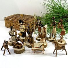 Banana Fiber Handmade Nativity Set (Kenya) -- Awesome products selected by Anna Churchill