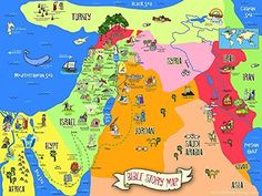 This colorful and easy-to-read Bible Story Map is an excellent teaching tool to…