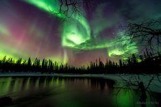 Aurora Borealis in Ylläs Äkäslompolo, Finland by Markus Kiili