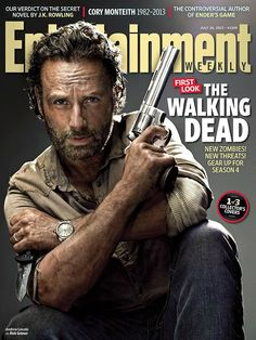 Daryl, Rick, and Carl of The Walking Dead get their own EW covers