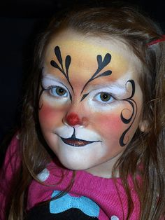 Christmas Reindeer face painting design by Mary Fairgrieve                                                                                                                                                                                 More